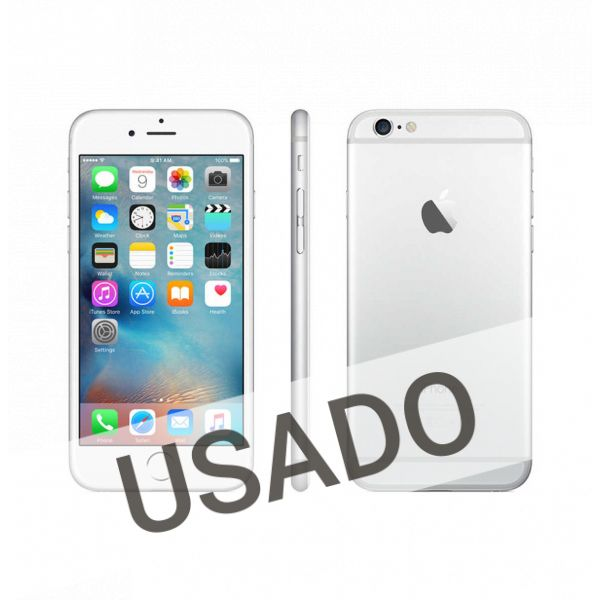 Telemóvel iPhone 6 Silver White 64Gb Refurbished Grade A