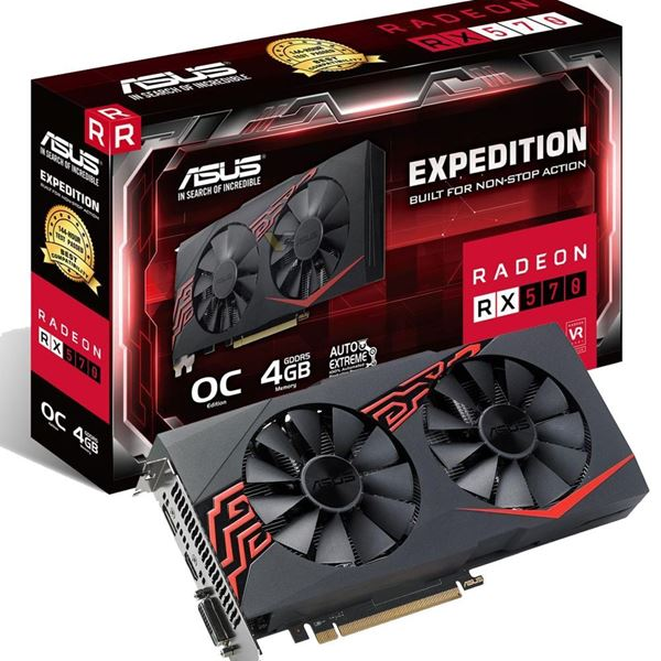 Placa gráfica Asus Expedition RX570 4Gb