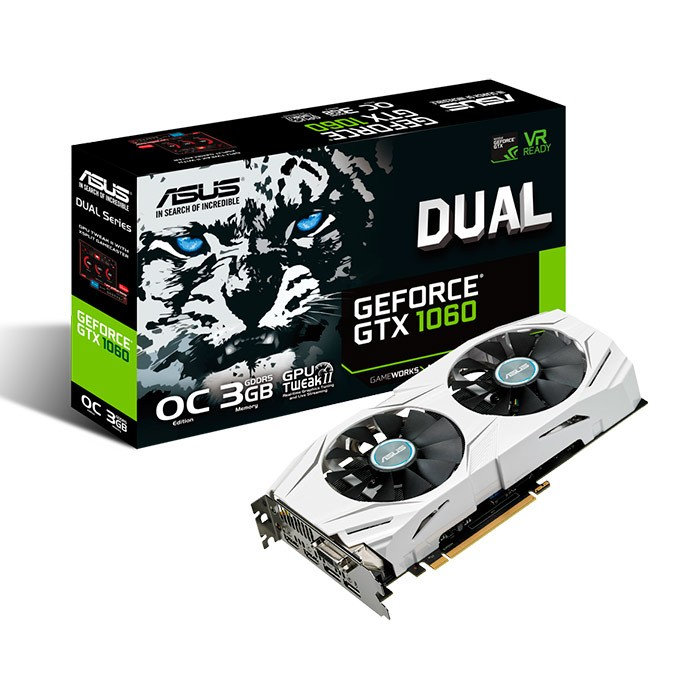 Placa gráfica Asus Dual Geforce GTX 1060 OC 3Gb DDR5